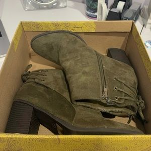 Mix No.6 Army Green Booties